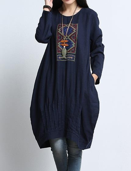 Plus Size Ethnic Long Blouse/Dress
