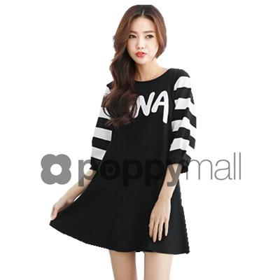 [PM-1802-5781] Fashion Woman Casual Stylish Dress Black