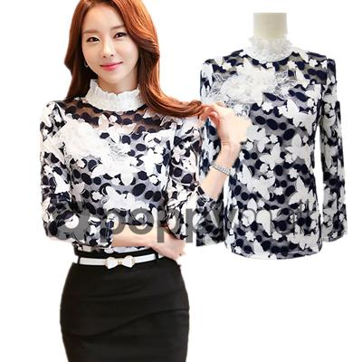 [PM-1862-6748] Stylish Women Fashion Sexy Lace Top As Picture