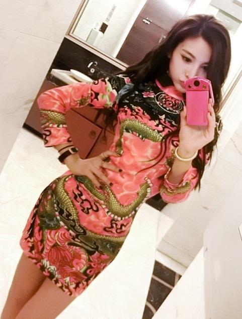 [PM3-3249AS] Women Dragon Cheongsam As Picture