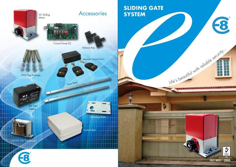PNI - E8 E1000 DC Sliding Gate Motor Set for Autogate System