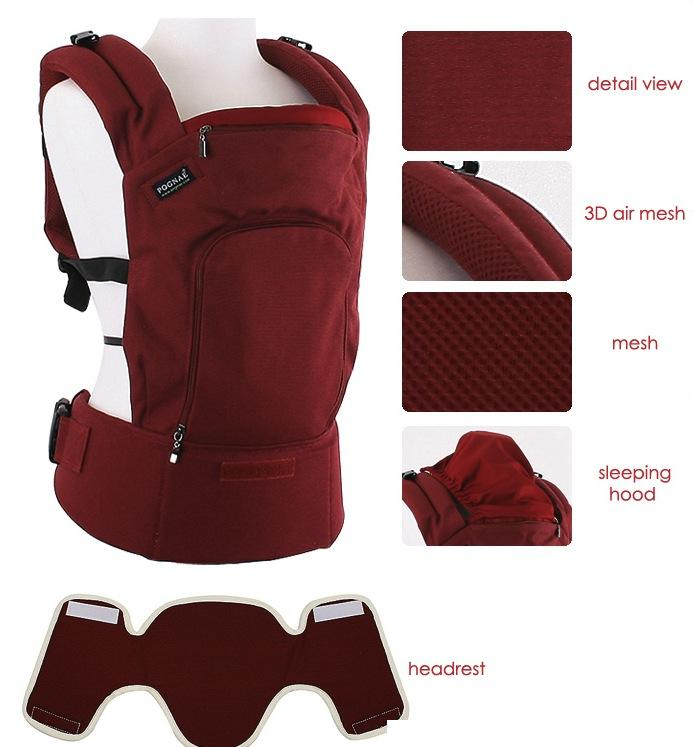 Pognae Soft Structured Baby Carrier (SSC) from Korea Plain