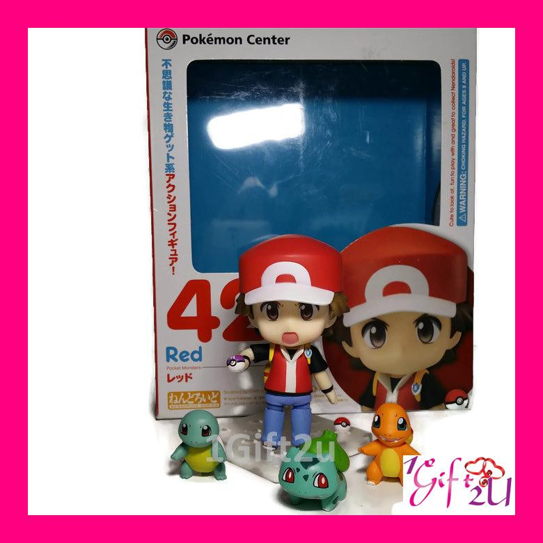 Pokemon Ash with Charmander Bulbasaur Squirtle Action Figure Set