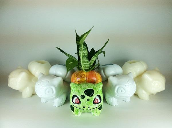 Pokemon Bulbasaur vase( Green Color)