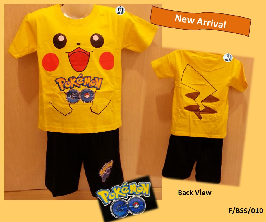 Pokemon GO Kids / Children Short Sleeve Short Pants Suit