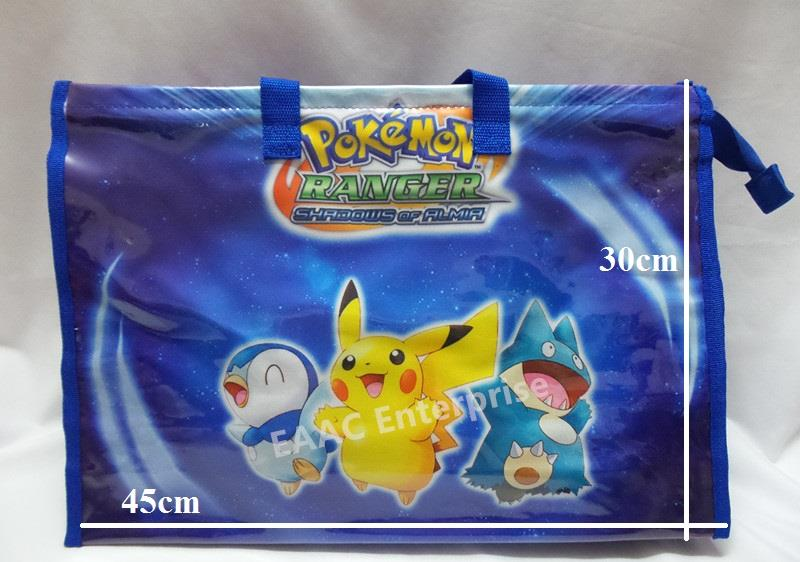 Pokemon Pikachu Kid Sling Shoulder Bag Shopping Tuition Bag Blue