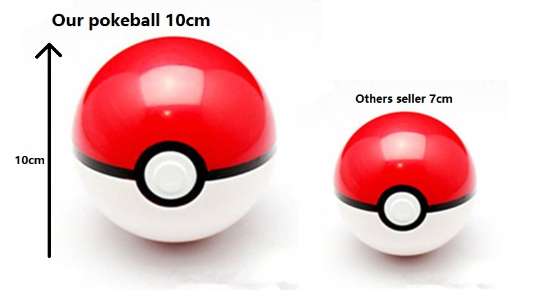 Pokemon Pokeball , Masterball ,Greatball ,Ultra ball 10cm