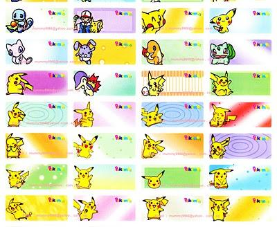 Pokemon Squishy Real Name : Pokemon Name Stickers (Large) for Gif (end 4/9/2014 4:15 PM)