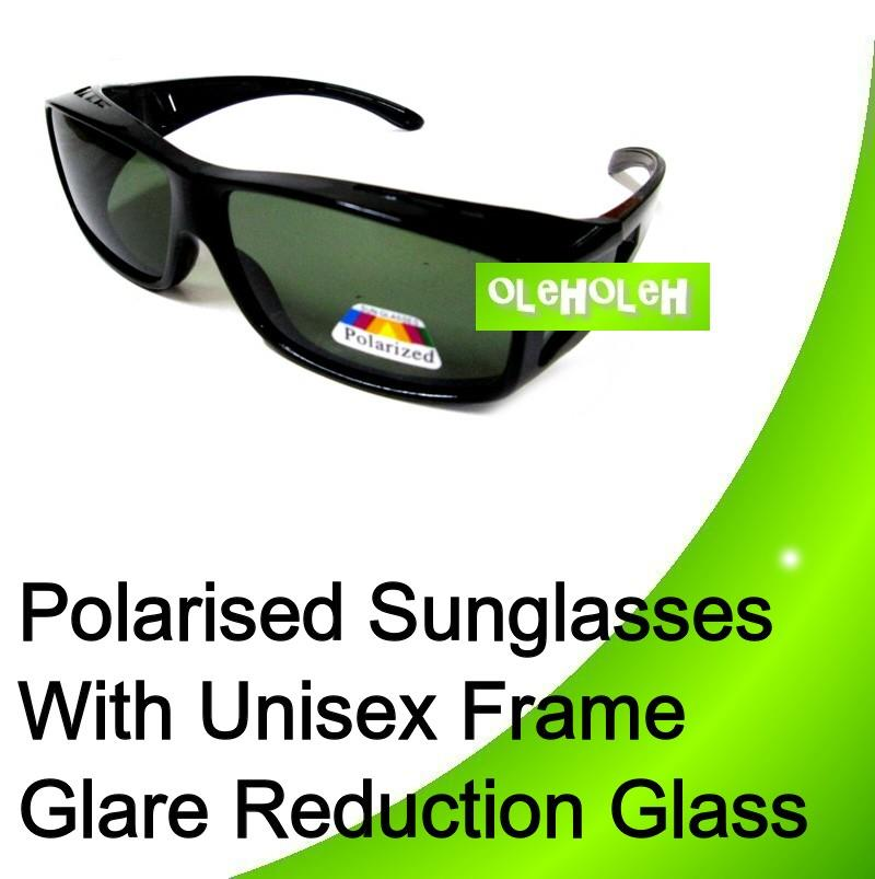 Polarised Fit Over Sunglasses With Unisex Frame, Glare Reduction Glass