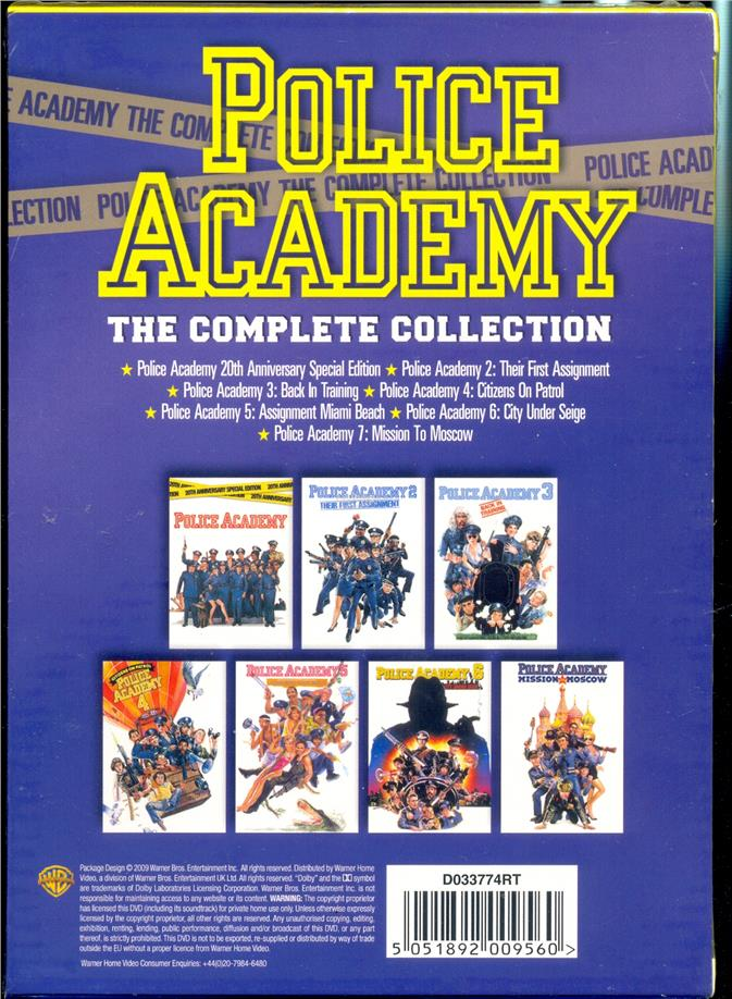 Police Academy The Complete Collection - New DVD Box Set