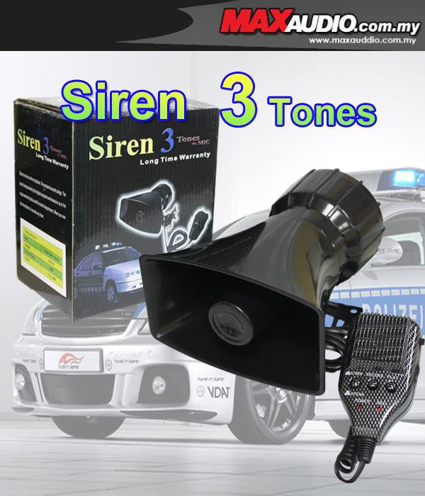 POLICE ES-366 100W 3 Tone Talking Siren with Mic & Voice Recorder