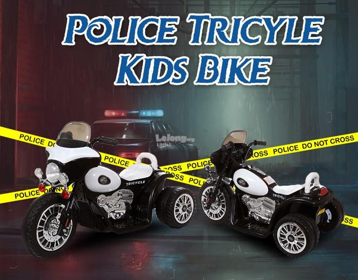 POLICE TRICYCLE KIDS BIKE