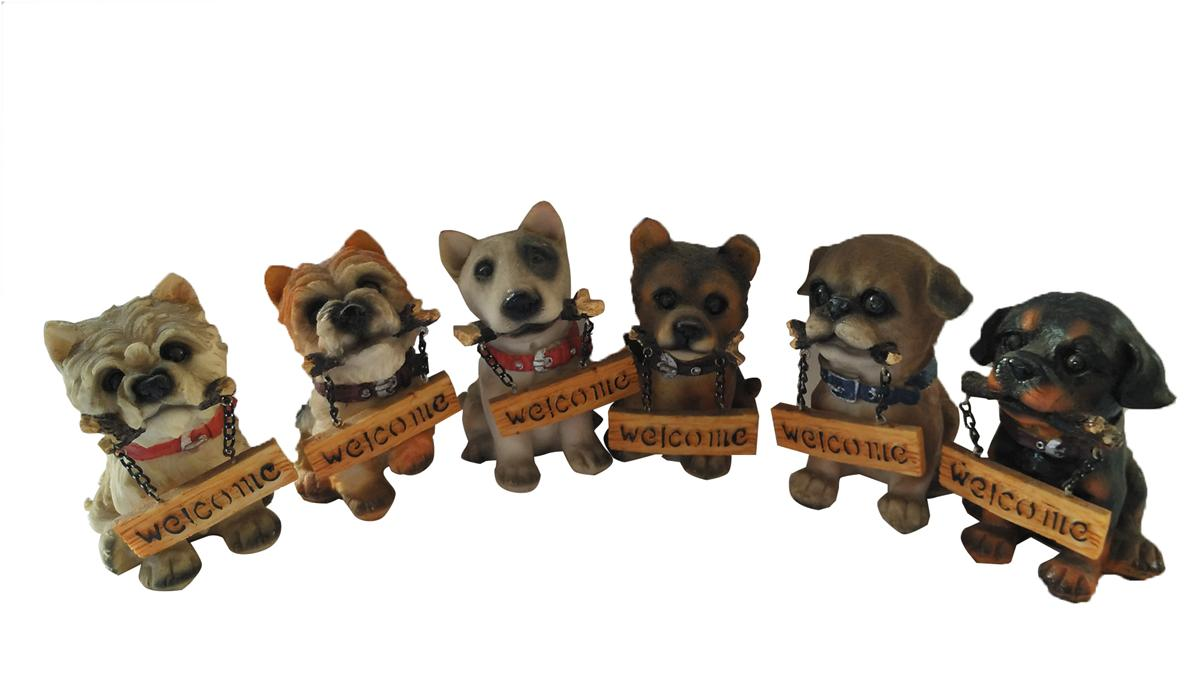 POLYRESIN DOGS DECO ( SET OF 6 )