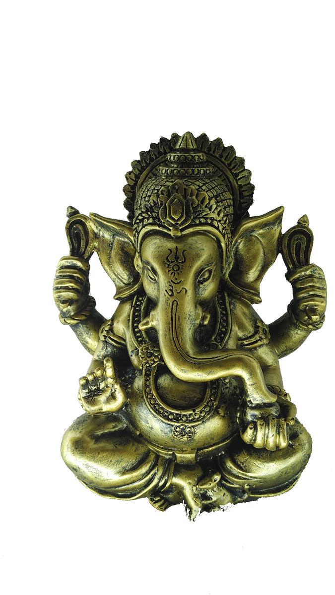 POLYRESIN GOLDEN COLOR GANESHA A
