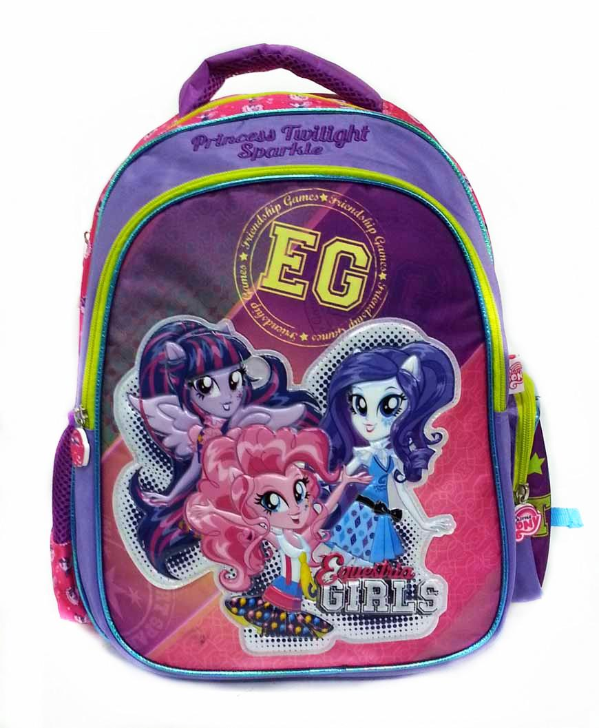 MY LITTLE PONY EQUESTRIA GIRLAS TEAM SCHOOL BAG * W31xH41xD17CM