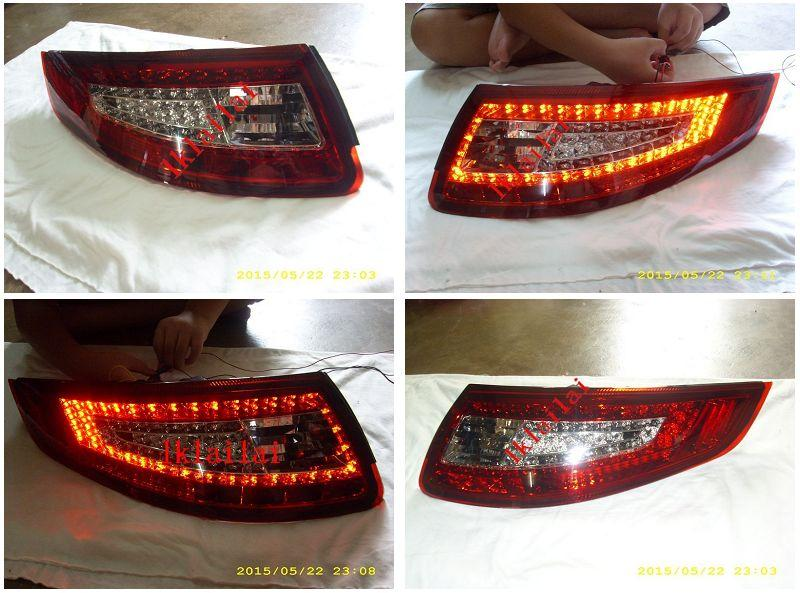 PORSCHE 911 CARRERA 997 05 Full LED Tail Lamp Red/Clear