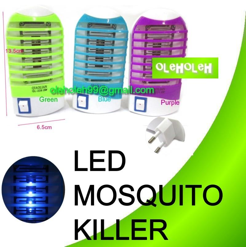 Portable 4-LED Electron Electrical Mosquito Killer Night Lamp