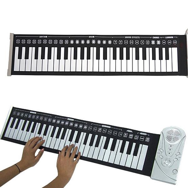 Portable 49 Keys Soft Roll Up Electronic Keyboard Piano Handsroll