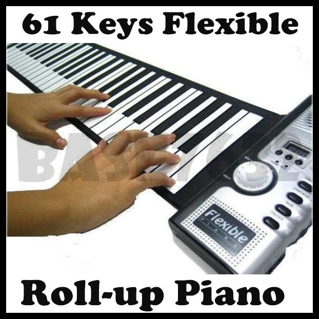 Portable 61 Keys Soft Roll Up Foldable Flexible Piano Organ Music