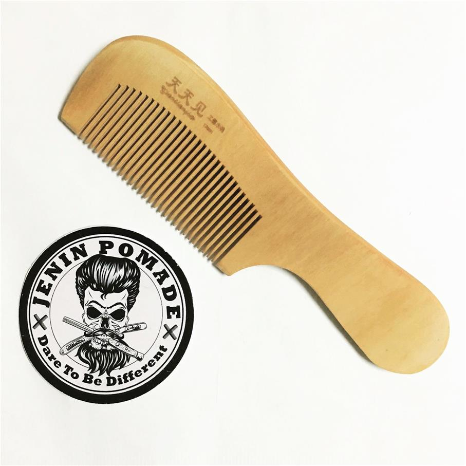 Portable Anti-Static Petiolate Peach Wooden Comb