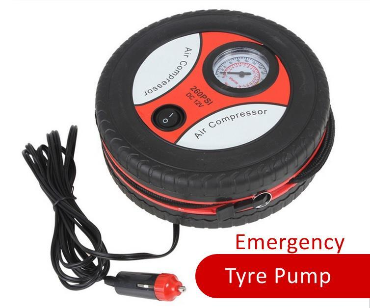 Portable Auto Car Pump Tire Tyre Inflator Mini Air Compressor 12V