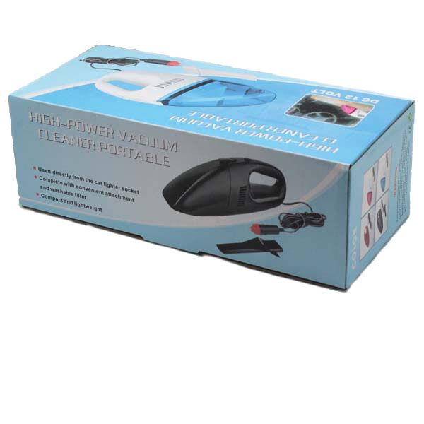 PORTABLE CAR VACUUM 12VOLT (CLEAR STOCK)