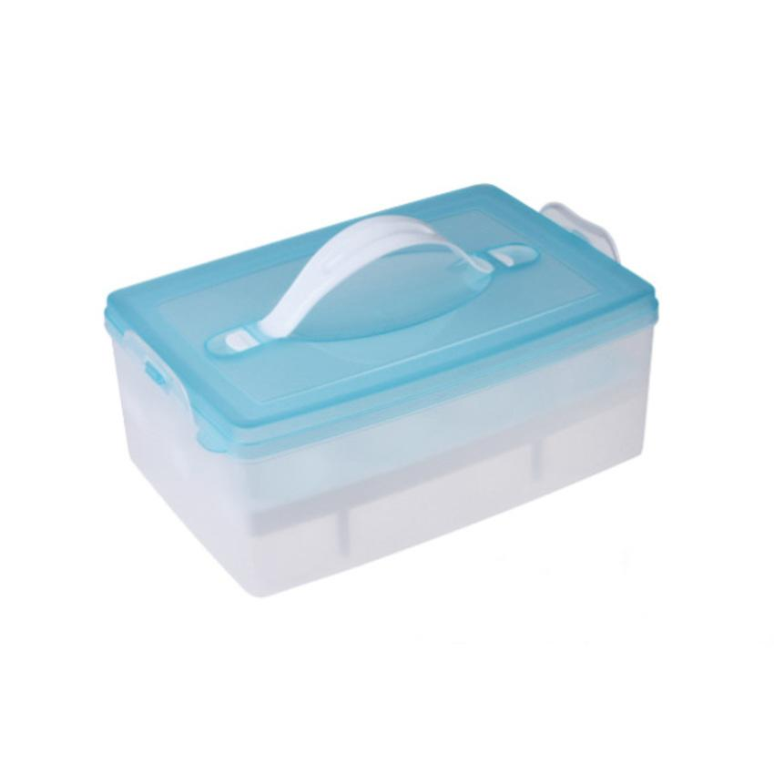 Portable Double Plastic Egg Storage Box Crisper