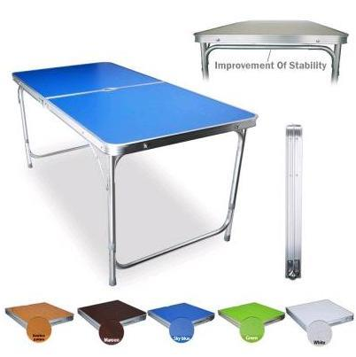 Portable Foldable Folding Fold Aluminum Table 120cm*60cm