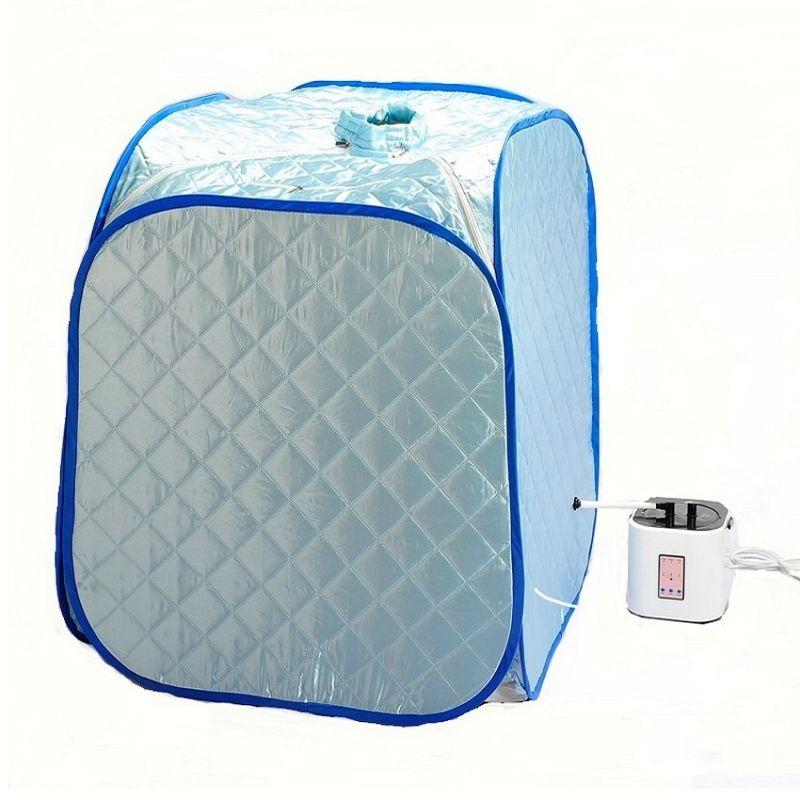 Portable and Foldable Steam Sauna + Free Gift (Blue)