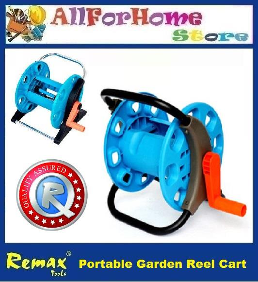 Portable Garden Water Hose Reel Cart Water Pipe Storage Rack Holder