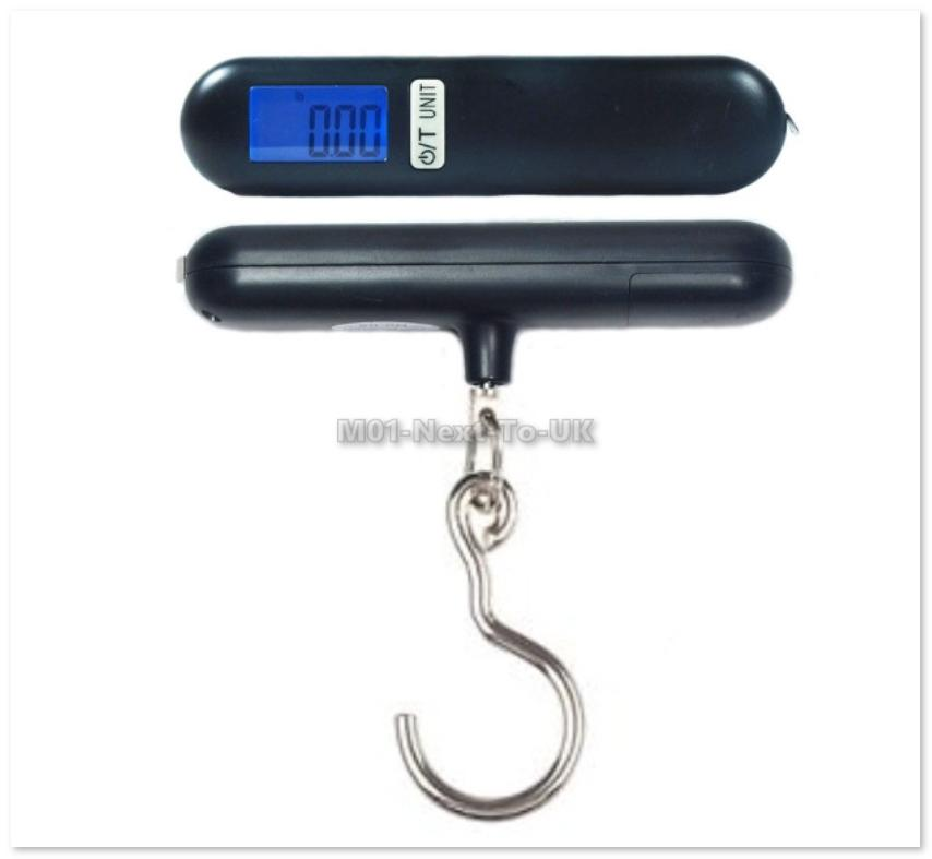 Portable Luggage Travel Scale Hanging Suitcase Hook 40kg MeasuringTape