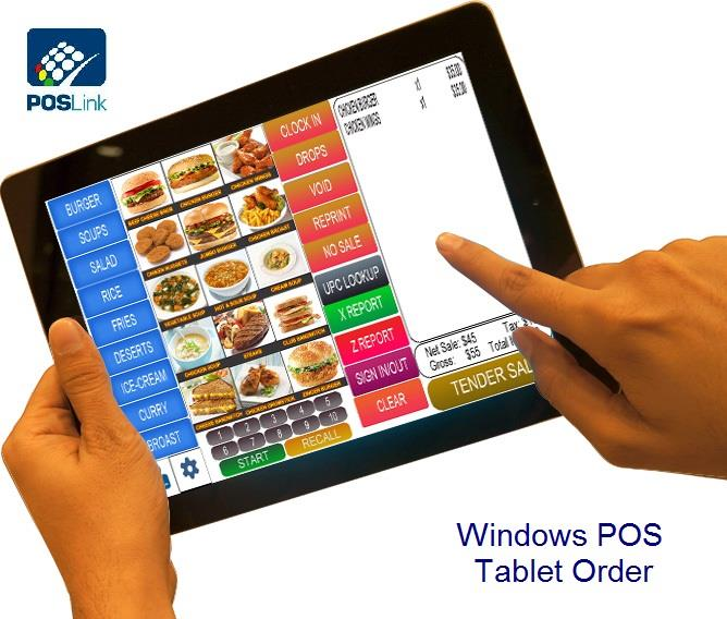 POS Link - Win8 Tablet Retail F&B POS - Direct Submit GST03 / GAF