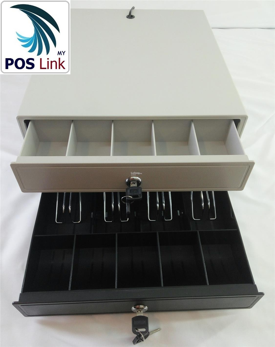 POS System Cash Drawer-Metal Heavy Duty 4Bills/5Coins/ RJ11