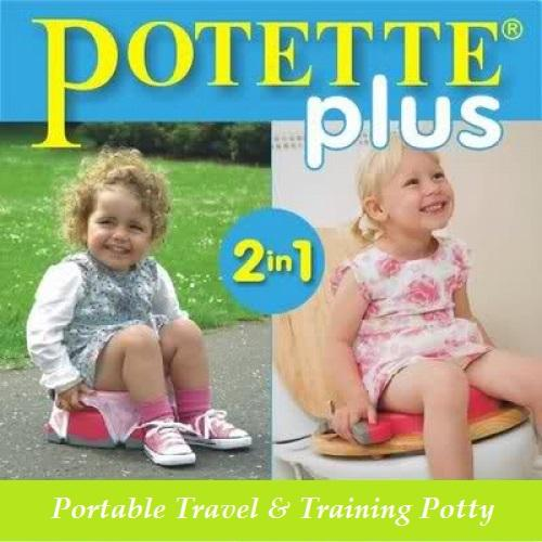 Potette Plus 2-in-1 Portable Travel Potty and Training Seat
