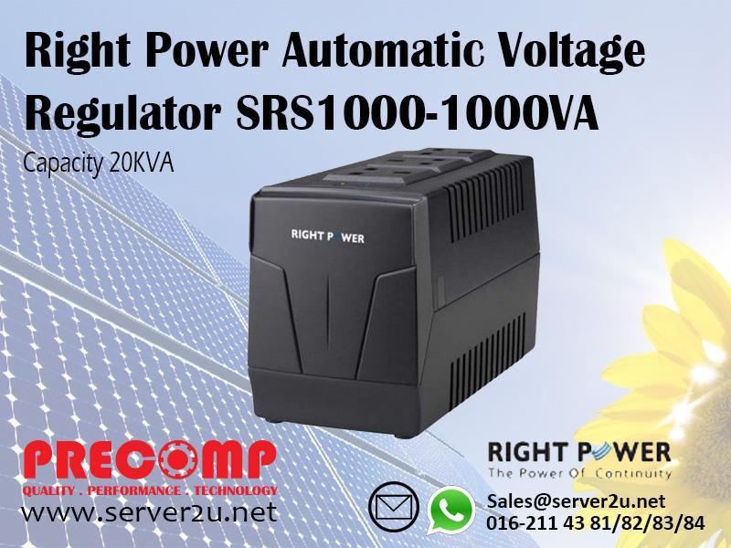 Right Power Automatic Voltage Regulator SRS1000-1000VA