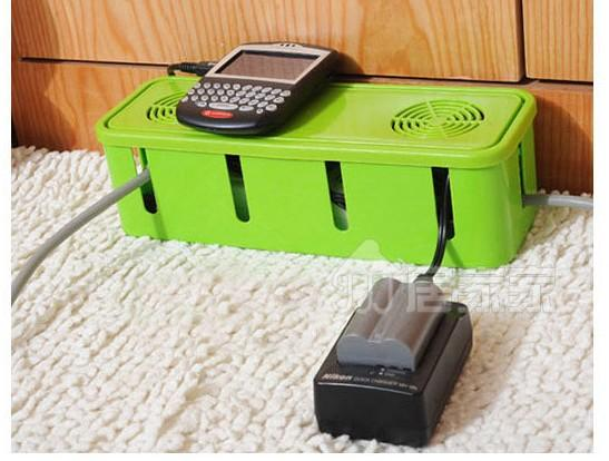Power Cord Socket Storage Box with Cooling Holes