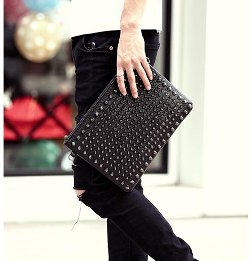 Power flow rivet fashion shoulder messenger bag