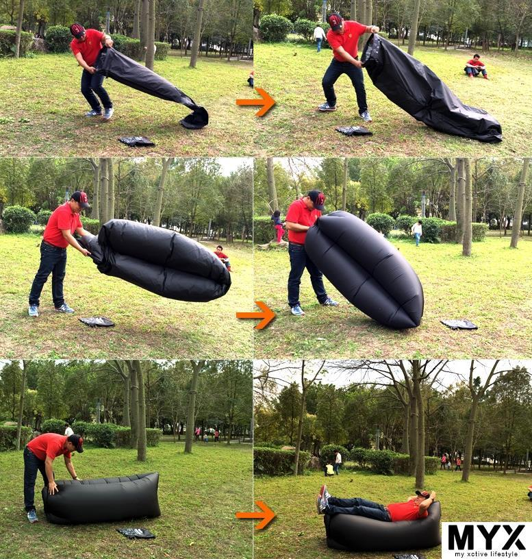 Practical Outdoor Camping Quick Inflatable Bed Sofa Portable Picnic