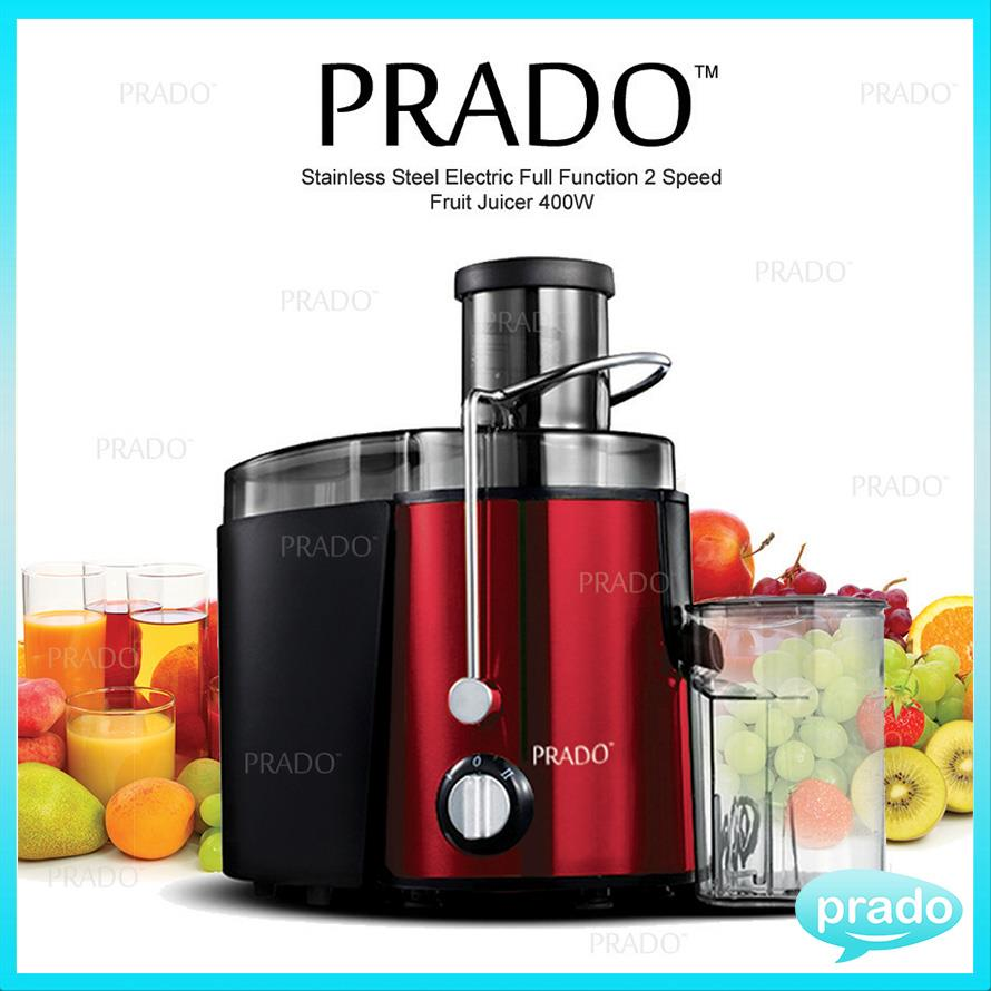PRADO Stainless Steel Electric Full Function 2 Speed Fruit Juicer 400W