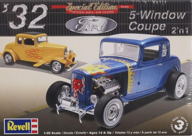 Pre order 1:25 Revell 32 Ford 5 Window Coupe Plastic Model Kit
