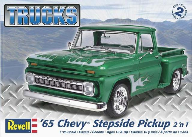 Pre order 1:25 Revell 65 Chevy Stepside Pickup 2n1 Plastic Model Kit