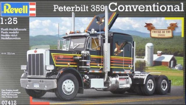 Pre order 1:25 Revell Peterbilt 359 Conventional Plastic Model Kit