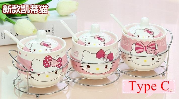 (Pre Order 1 Month) 3pcs HK Ceramic Seasoning Canister (A/B/C/D)