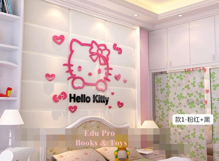 (Pre Order 1 Month) Hello Kitty Acrylic Wall Deco Type (Love/Squint)