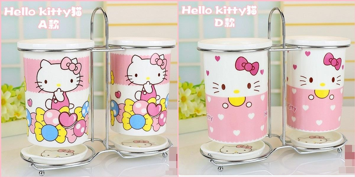 (Pre Order 1 Month) Hello Kitty Ceramic Cutlery Holder (Face/Candy)