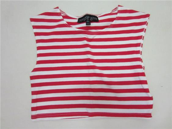 Prelove pre love TOPSHOP Red Strip Shirt 76