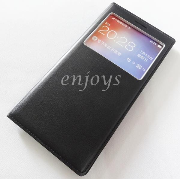 Premium BLACK S View Book Flip Cover Case Pouch OPPO FIND 7 7A / X9007