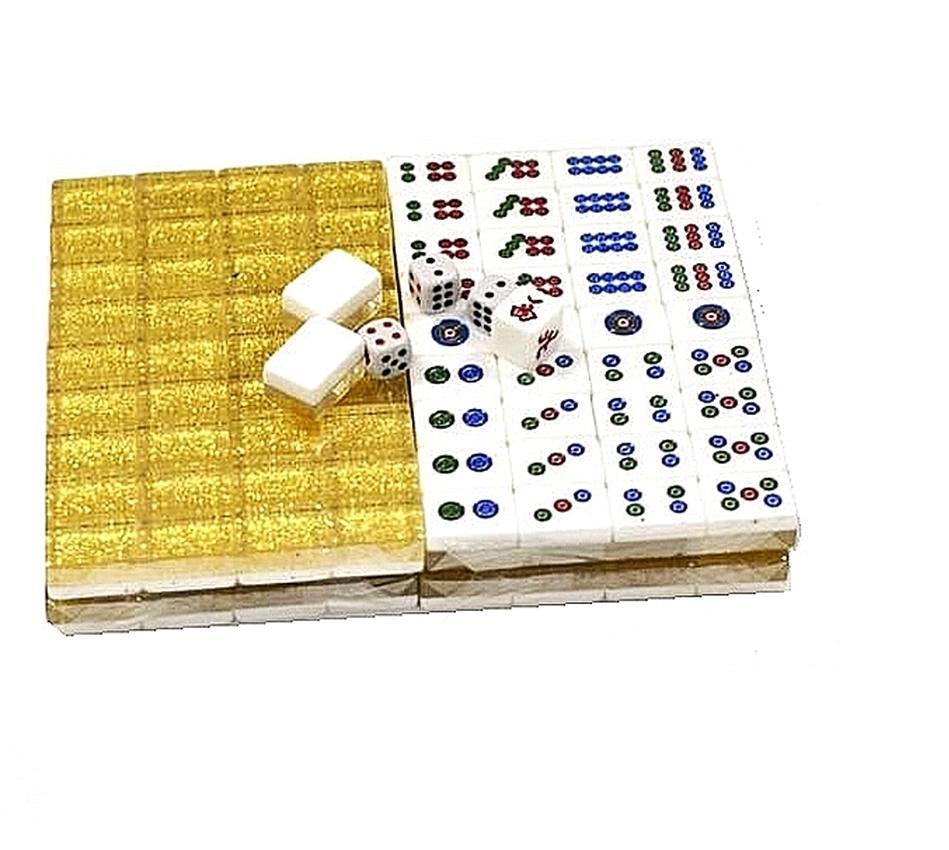Premium Crystal Golden Mini Mahjong Set