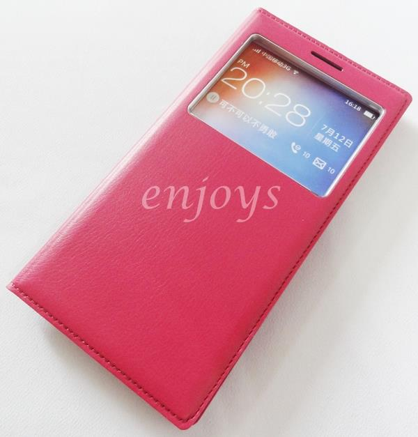Premium HOTPINK S View Flip Cover Case Pouch OPPO FIND 7 7A / X9007