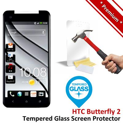Premium Protection HTC Butterfly 2 Tempered Glass Screen Protector